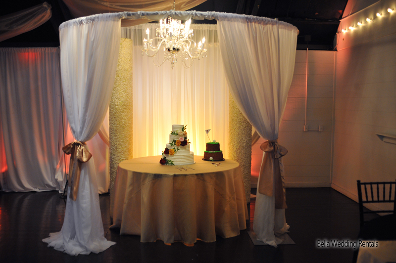 wedding specialty fabric - pipe & drape rental - 8206