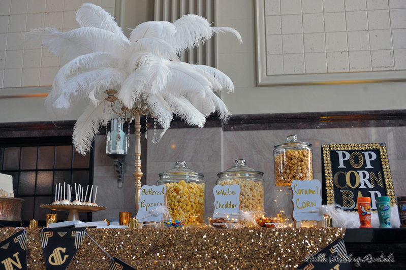 popcorn station - great gatsby - wedding reception - 1526