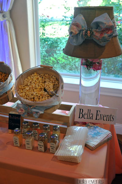 popcorn station - rustic - wedding reception - 1518