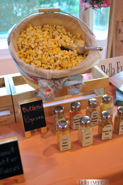popcorn station - rustic - wedding reception - 1519
