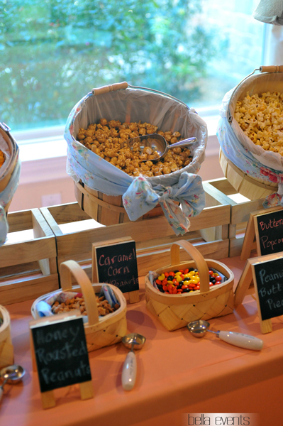 popcorn station - rustic - wedding reception - 1523
