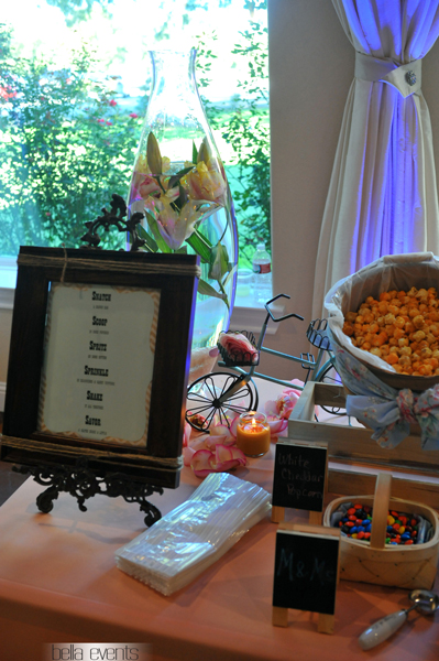 popcorn station - rustic - wedding reception - 1524