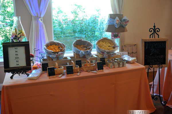 popcorn station - rustic - wedding reception - 1525