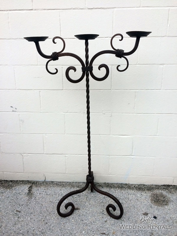 Wrought Iron Unity Candle Stand