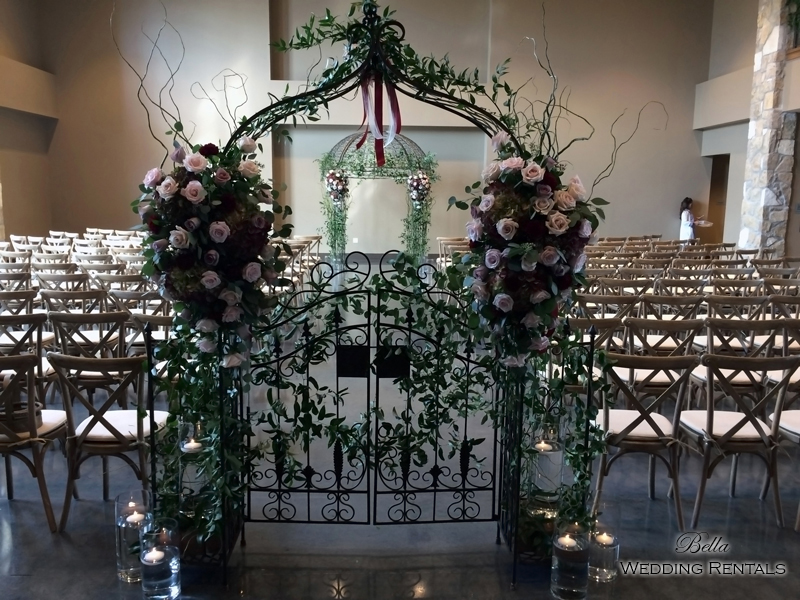 garden arch w gate - wrought iron gazebo - Verona Villa - 7704
