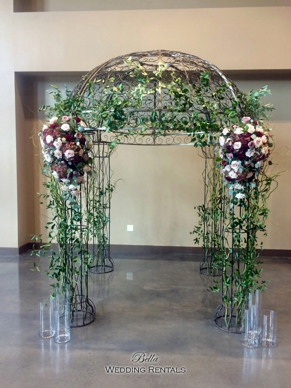 garden arch w gate - wrought iron gazebo - Verona Villa - 7705
