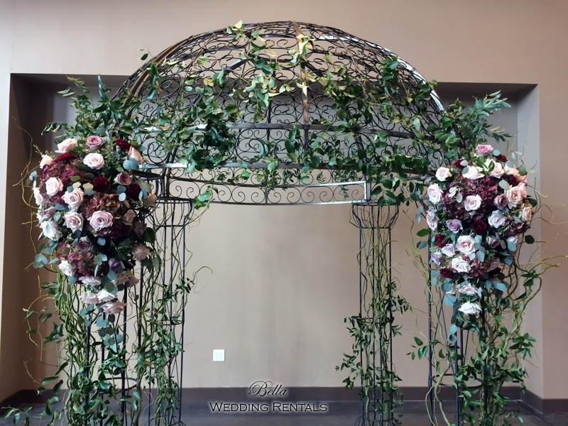 garden arch w gate - wrought iron gazebo - Verona Villa - 7707