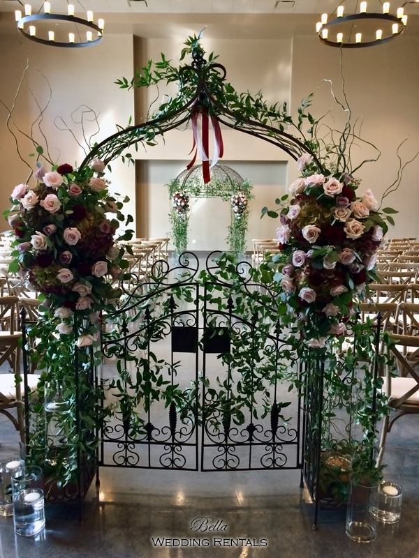 garden arch w gate - wrought iron gazebo - Verona Villa - 7708