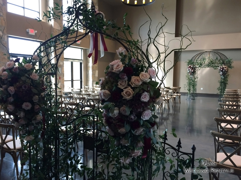 garden arch w gate - wrought iron gazebo - Verona Villa - 7711