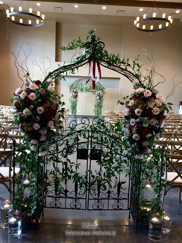 garden arch w gate - wrought iron gazebo - Verona Villa - 7713