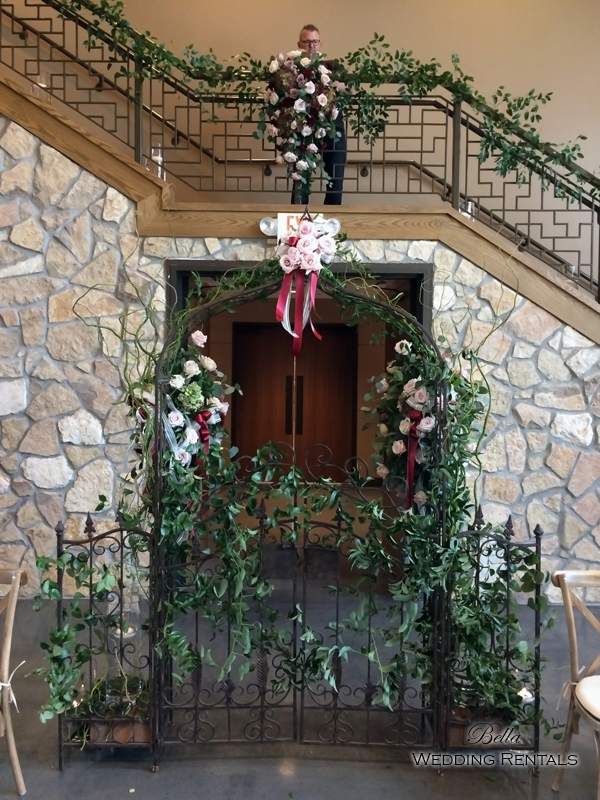 garden arch w gate - wrought iron gazebo - Verona Villa - 7714