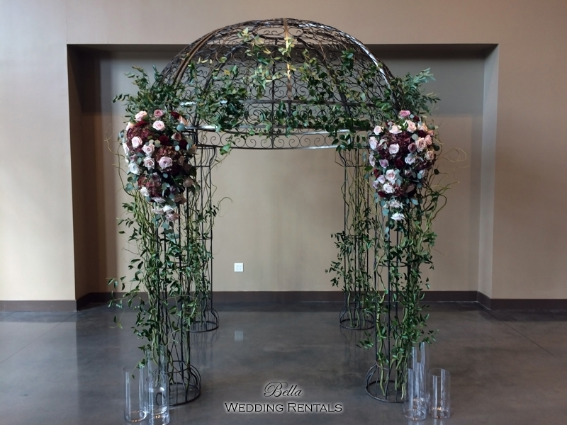 garden arch w gate - wrought iron gazebo - Verona Villa - 7715
