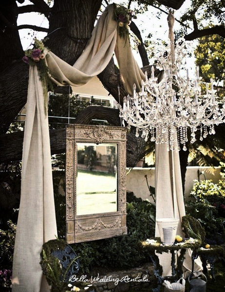 Chandelier and Fabric Altar