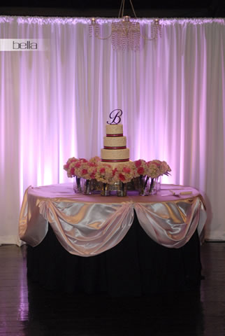 wedding cake table - wedding day - 2002
