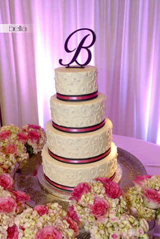 wedding cake table - wedding day - 2003