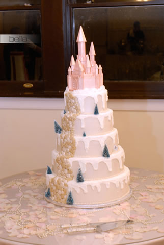 wedding cake table - wedding day - 2004