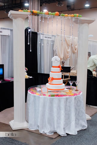 wedding cake table - wedding day - 2005