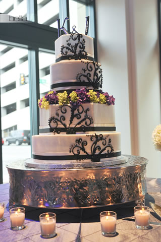 wedding cake table - wedding day - 2009