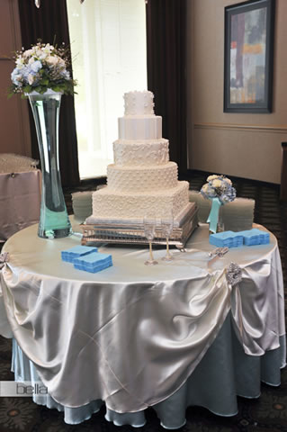 wedding cake table - wedding day - 2022