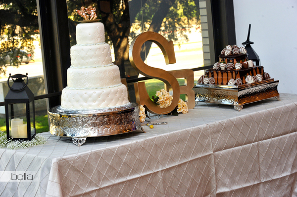 wedding cake table - wedding day - 2037