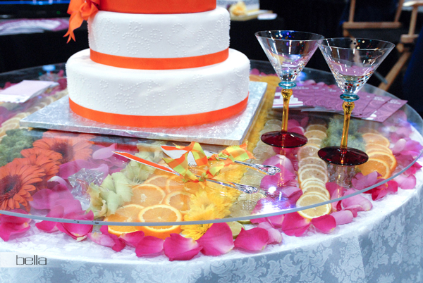 wedding cake table - wedding day - 2067