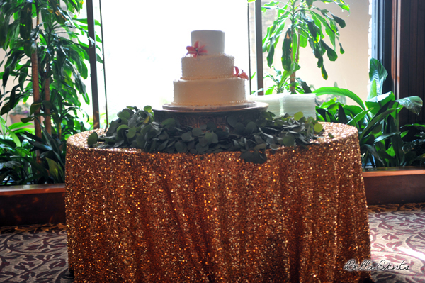 wedding cake table - wedding day - 2094