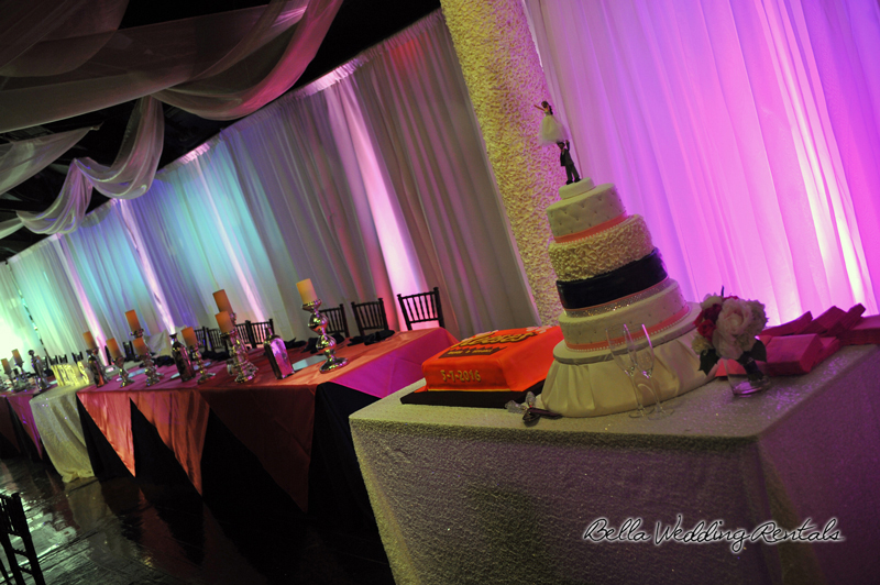 wedding cake table - wedding day - 2109