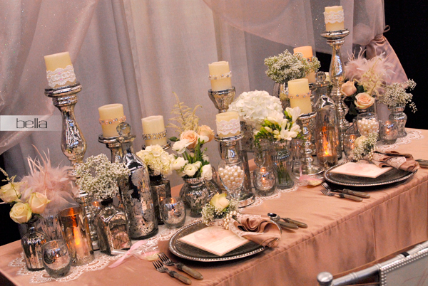 wedding head table - wedding reception - 2123