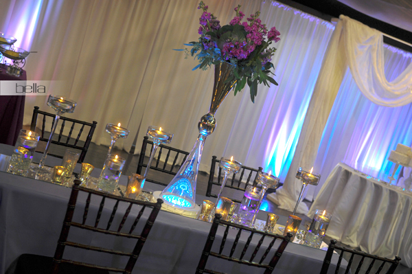 wedding head table - wedding reception - 2134