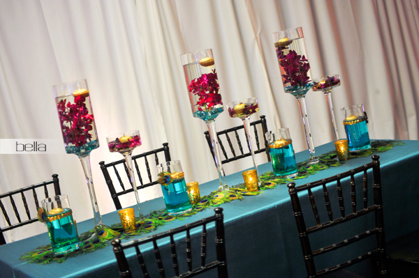 wedding head table - wedding reception - 2136