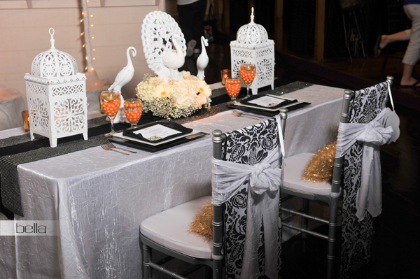 wedding head table - wedding reception - 2138