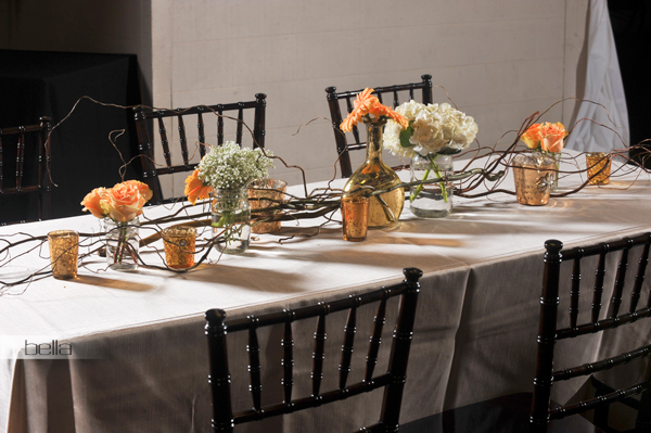 wedding head table - wedding reception - 2142
