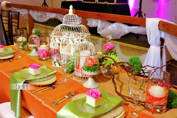 wedding head table - wedding reception - 2143
