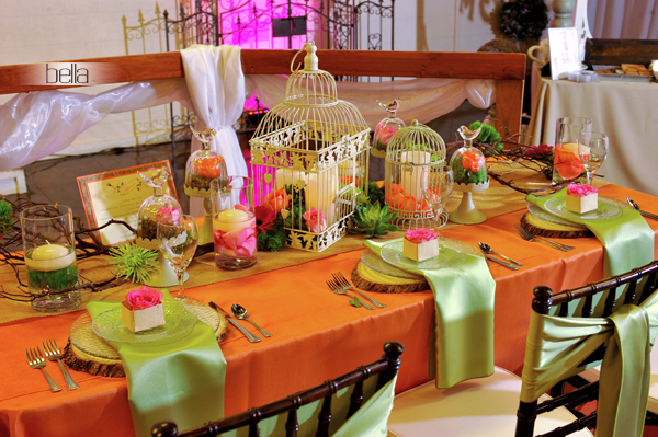 wedding head table - wedding reception - 2146