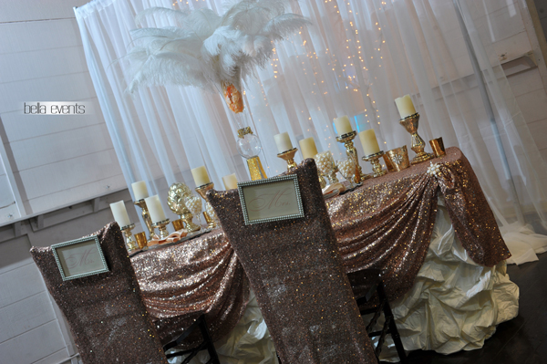 wedding head table - wedding reception - 2148