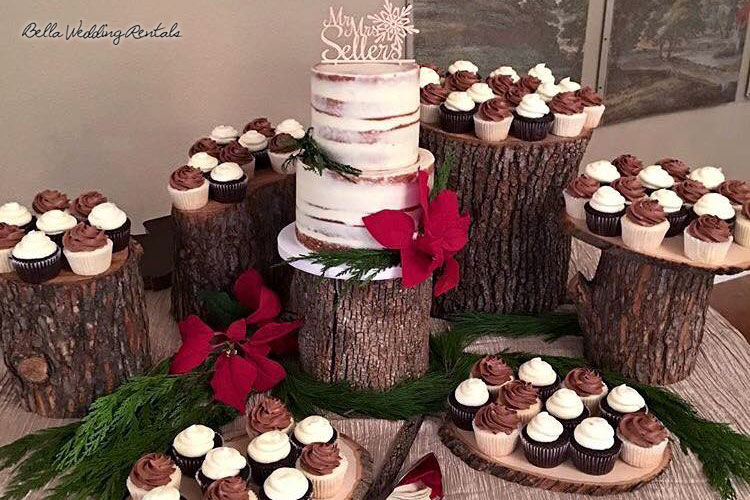 Wood Slice and Stumps for Cake Table Presentation