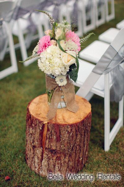 Wood Stump for Wedding Ceremony